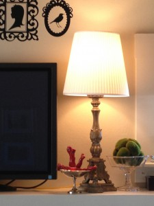 Ikea cream lamp shades