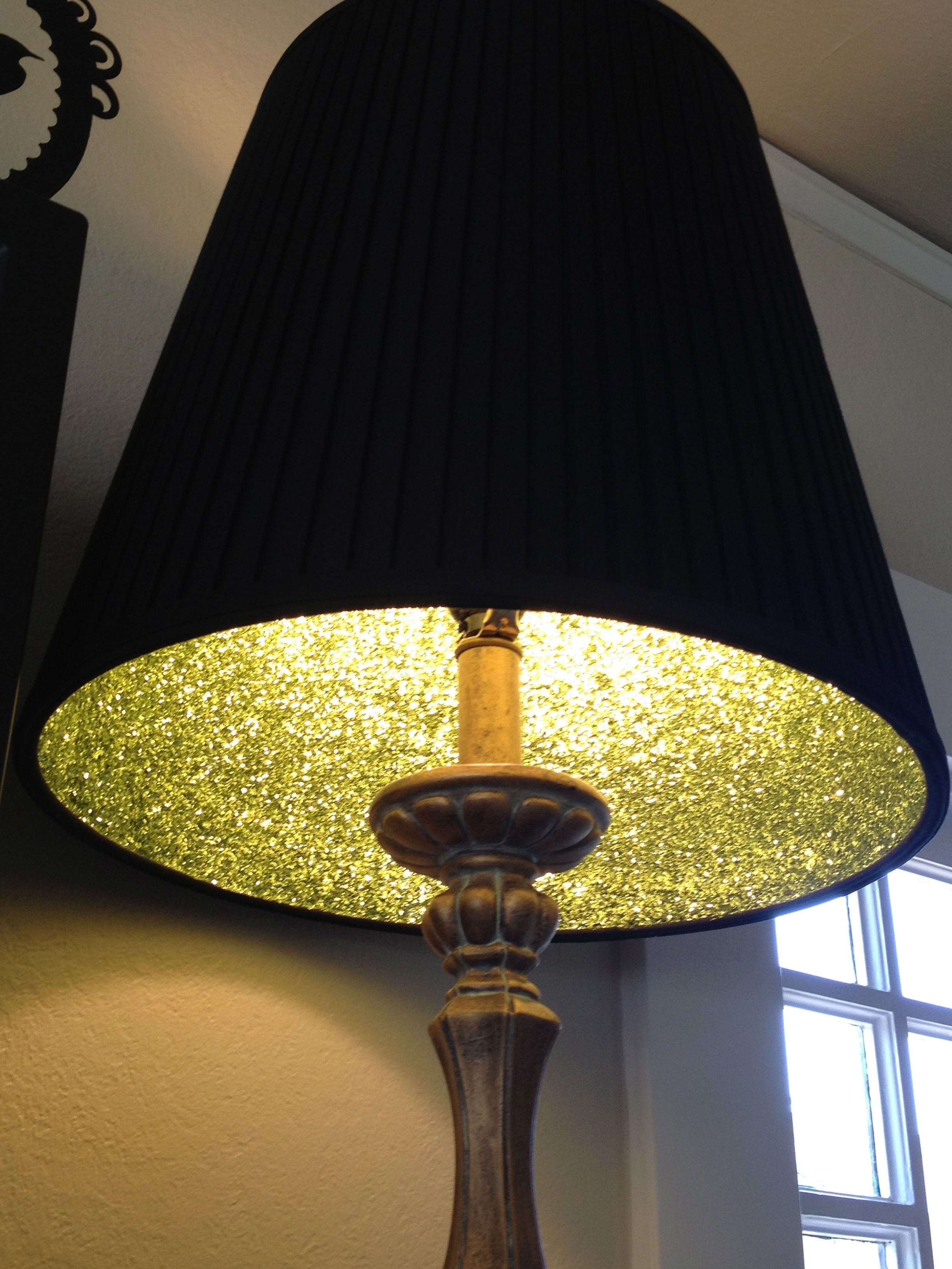 Great Lampshade Glitter Project Carrie D Mader