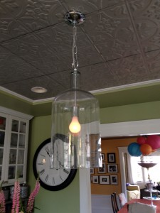 big glass lantern light fixture