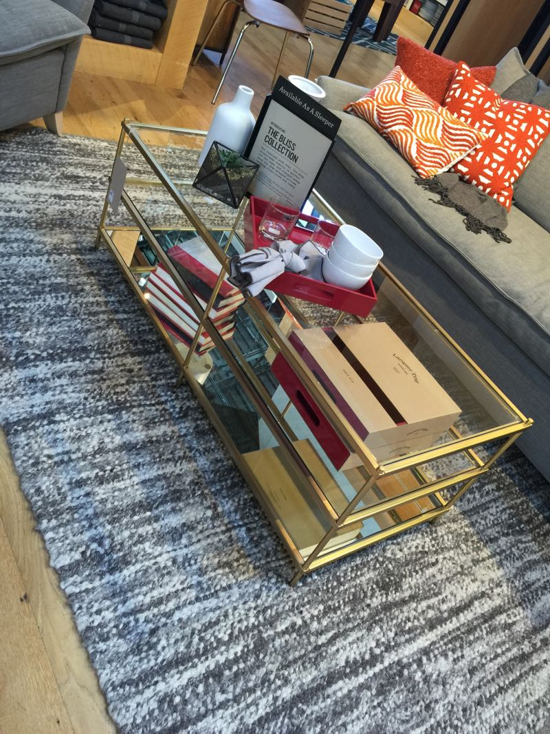 west elm gold glass coffee table